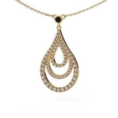 Picture of Pendant Delpha 585 gold black diamond 0.490 crt