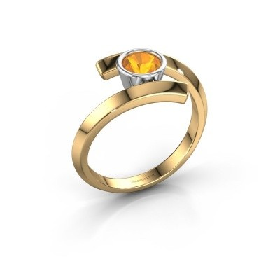 Ring Mara 585 goud citrien 5 mm