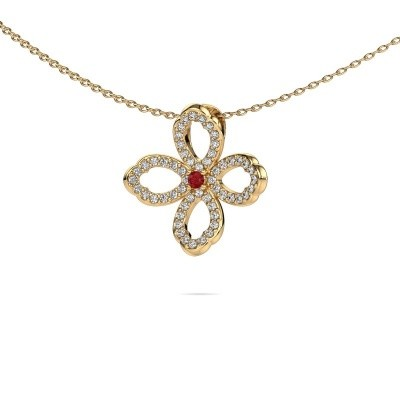 Picture of Necklace Chelsea 585 gold ruby 2 mm