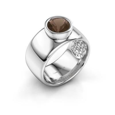 Foto van Ring Klarinda 925 zilver rookkwarts 7 mm