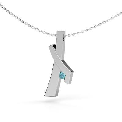 Picture of Pendant Alyssa 925 silver blue topaz 2.7 mm