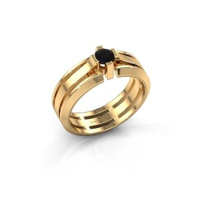 Foto van Heren ring Sem 585 goud zwarte diamant 0.48 crt