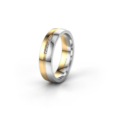 Trouwring WH0132L25B 585 goud lab created ±5x2 mm