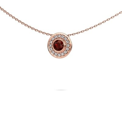 Picture of Necklace Gretta 375 rose gold garnet 4 mm