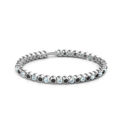 Foto van Tennisarmband Mellisa 585 witgoud zwarte diamant 7.92 crt