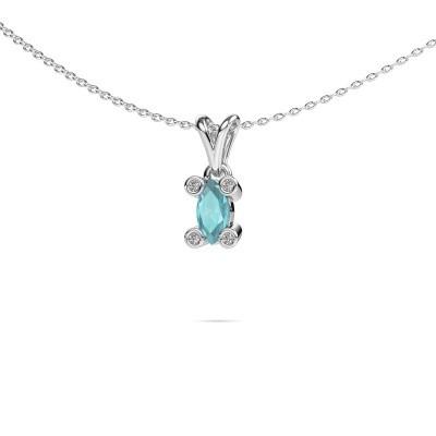 Picture of Necklace Cornelia Marquis 950 platinum blue topaz 7x3 mm