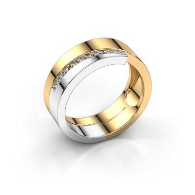 Foto van Ring Loma 585 goud diamant 0.165 crt