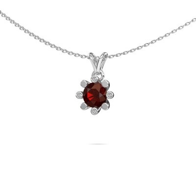 Picture of Pendant Carola 2 585 white gold garnet 6 mm