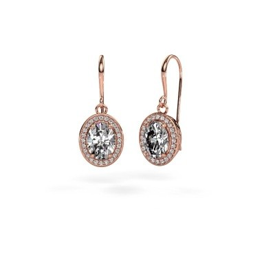 Picture of Drop earrings Latesha 375 rose gold zirconia 8x6 mm
