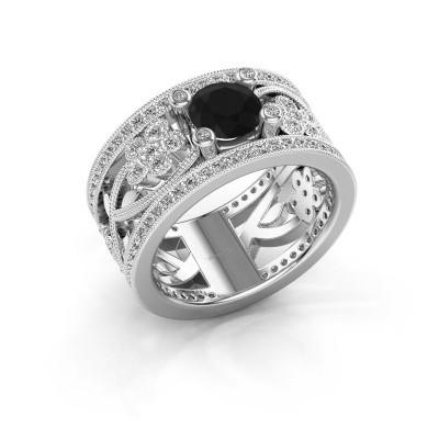 Foto van Ring Severine 950 platina zwarte diamant 1.565 crt