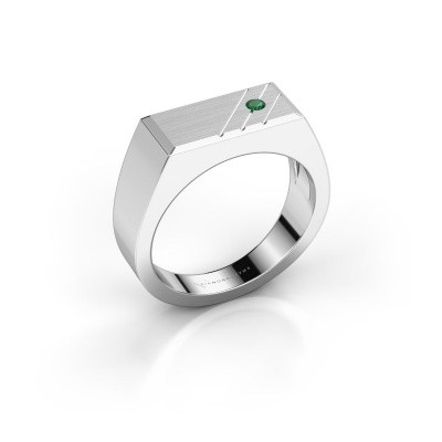 Foto van Heren ring Dree 5 925 zilver smaragd 2.4 mm