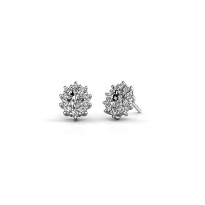 Picture of Earrings Leesa 585 white gold zirconia 6x4 mm