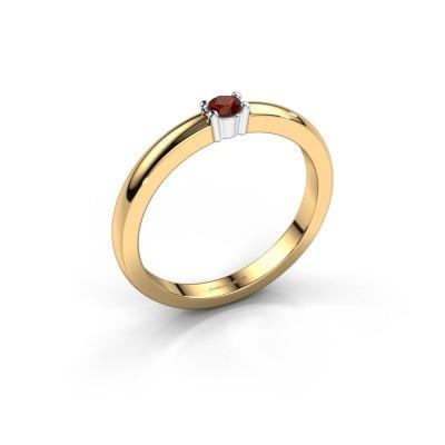 Foto van Promise ring Yasmin 1 585 goud granaat 2.7 mm