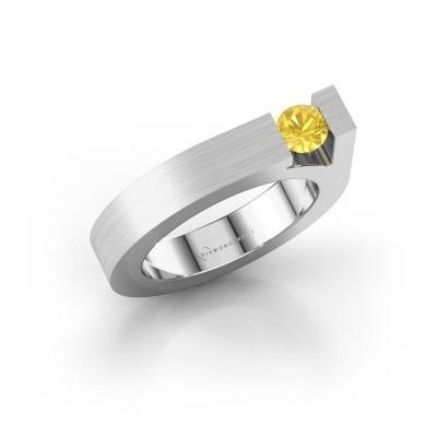 Foto van Ring Aisha 925 zilver gele saffier 4.2 mm