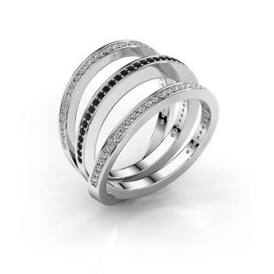 Foto van Ring Jaqueline 585 witgoud zwarte diamant 0.588 crt
