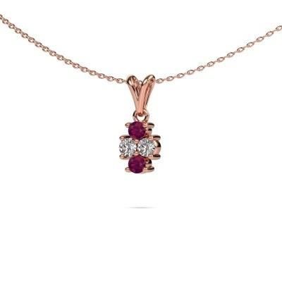 Picture of Necklace Richelle 585 rose gold rhodolite 3 mm