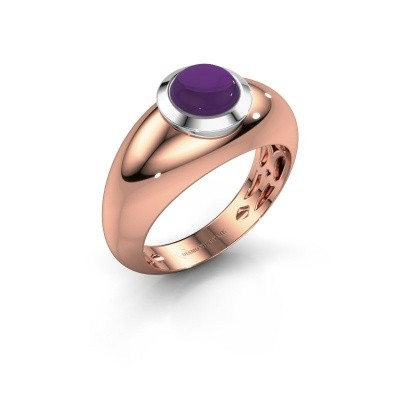 Foto van Ring Sharika 585 rosé goud amethist 6 mm