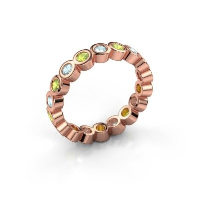 Picture of Stackable ring Edwina 2 585 rose gold peridot 2.5 mm