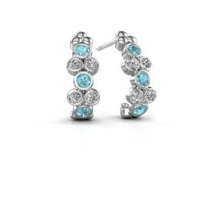 Picture of Earrings Kayleigh 925 silver blue topaz 2.4 mm