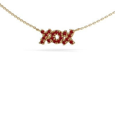 Picture of Necklace XoX 585 gold ruby 1.5 mm