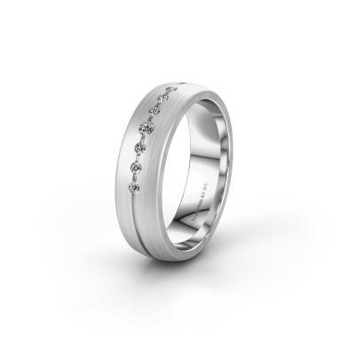 Trouwring WH0162L25A 950 platina diamant ±5x1.7 mm