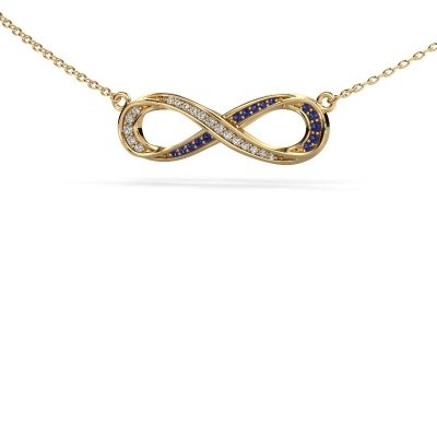 Picture of Necklace Infinity 2 585 gold sapphire 0.8 mm
