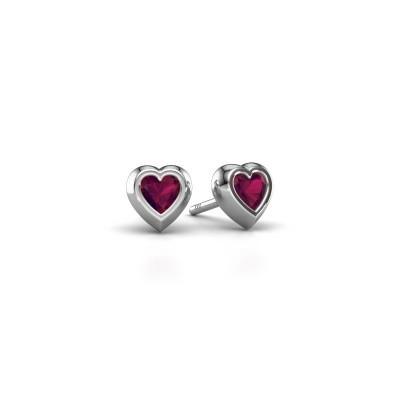 Picture of Stud earrings Charlotte 925 silver rhodolite 4 mm