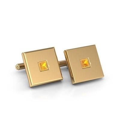 Foto van Manchetknopen Givanti 585 goud citrien 4 mm