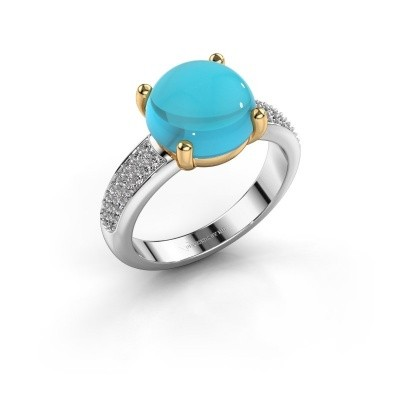 Picture of Ring Sophie 585 white gold blue topaz 10 mm