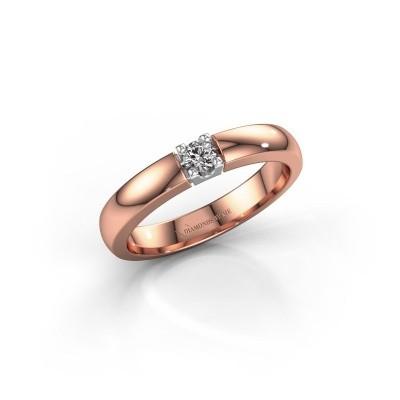 Foto van Verlovingsring Rianne 1 585 rosé goud diamant 0.10 crt