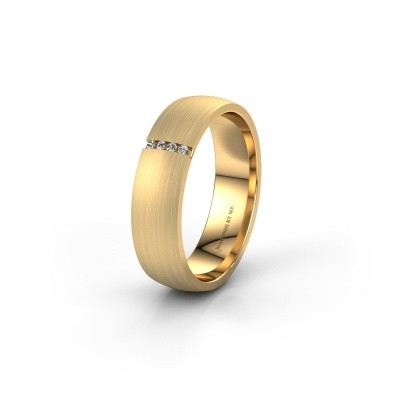 Trouwring WH0154L25XM 375 goud lab created ±5x1.4 mm