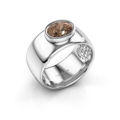 Foto van Ring Anouschka 925 zilver bruine diamant 1.15 crt