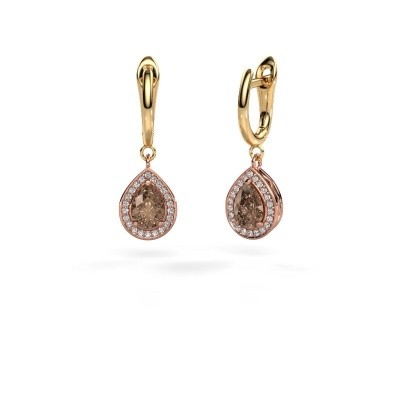 Picture of Drop earrings Ginger 1 585 rose gold brown diamond 1.41 crt