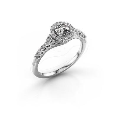 Foto van Verlovingsring Loralee 585 witgoud diamant 0.373 crt