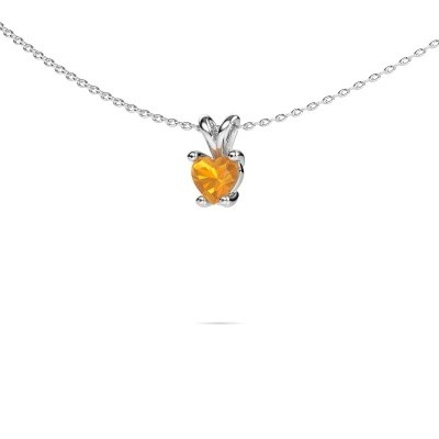 Picture of Necklace Sam Heart 950 platinum citrin 5 mm