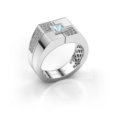 Foto van Heren ring Rogier 925 zilver aquamarijn 4 mm