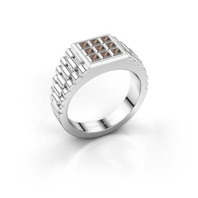 Foto van Rolex stijl ring Chavez 925 zilver rookkwarts 2 mm