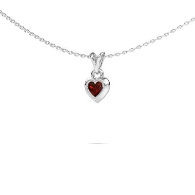 Picture of Pendant Charlotte Heart 375 white gold garnet 4 mm