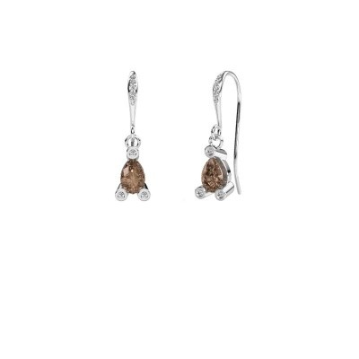 Picture of Drop earrings Bunny 2 375 white gold brown diamond 1.375 crt