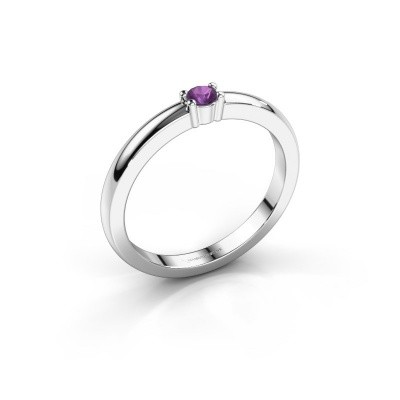Foto van Promise ring Yasmin 1 925 zilver amethist 2.7 mm