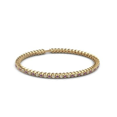 Foto van Tennisarmband Trix 375 goud amethist 2 mm