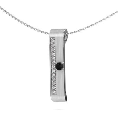 Picture of Necklace Vicki 950 platinum black diamond 0.315 crt