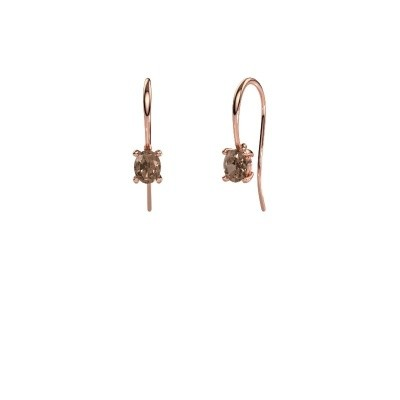 Picture of Drop earrings Cleo 375 rose gold brown diamond 1.00 crt