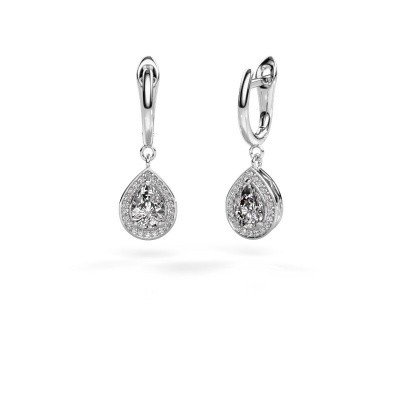 Picture of Drop earrings Ginger 1 925 silver zirconia 7x5 mm