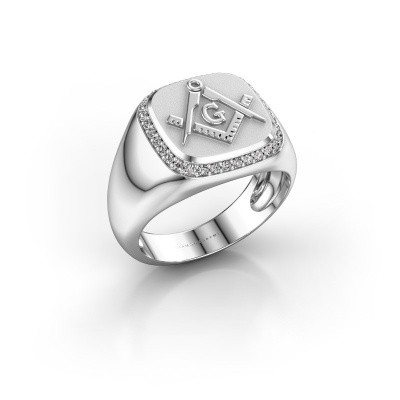 Foto van Heren ring Johan 375 witgoud diamant 0.255 crt