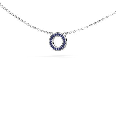 Picture of Pendant Round 2 585 white gold sapphire 0.8 mm