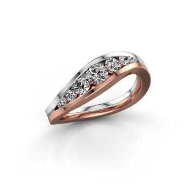 Foto van Ring Sigrid 2 585 rosé goud diamant 0.594 crt