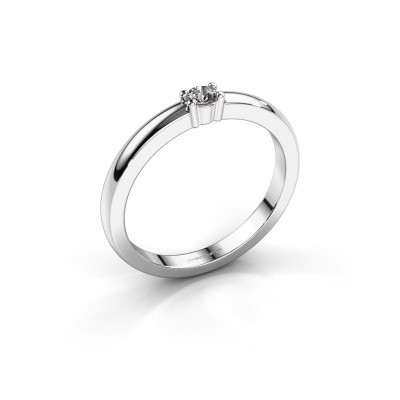 Foto van Promise ring Yasmin 1 950 platina diamant 0.08 crt