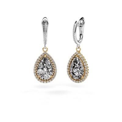 Foto van Oorhangers Hana 2 585 goud diamant 6.465 crt