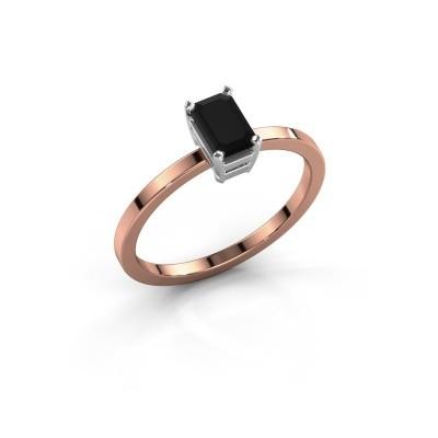 Foto van Verlovingsring Denita 1 585 rosé goud zwarte diamant 0.84 crt